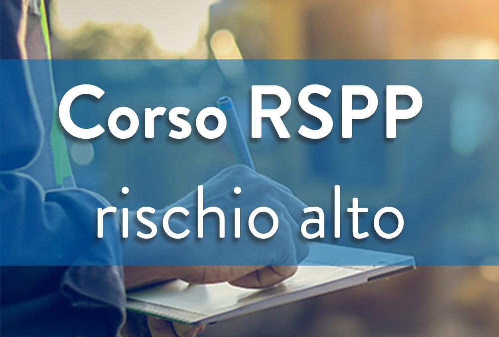 Formazione sicurezza Datori di lavoro – RSPP Rischio alto