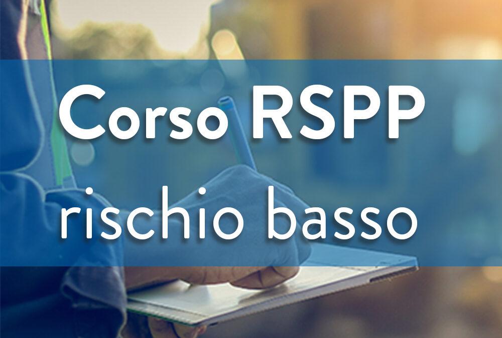 Formazione sicurezza Datori di lavoro – RSPP Rischio basso